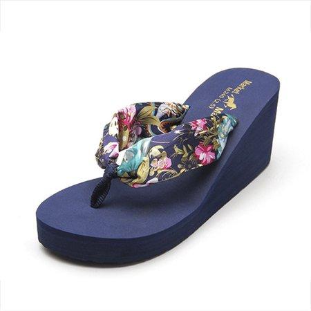 Pi Clue Beach Summer Slippers Blue/40