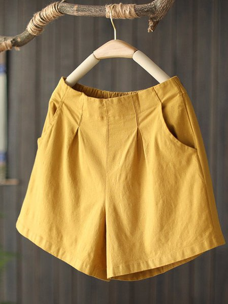 Solid Pants Yellow/One-size