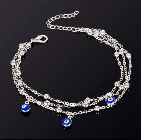 Alloy Anklets Silver/