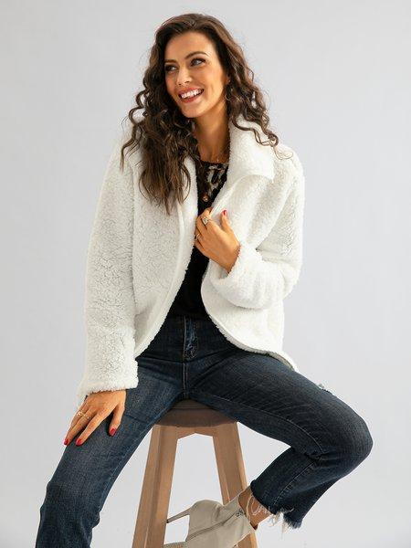 Lässiger Baumwollmischung Mantel